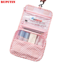 RUPUTIN New Women Travel Organizer Cosmetic Bags Hook Wash Bag Waterproof Large Capacity Storage Men Portable Toiletries