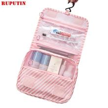RUPUTIN New Women Travel Organizer Cosmetic Bags Hook Wash Bag Waterproof Large Capacity Storage Bag Men Portable Toiletries Bag все цены