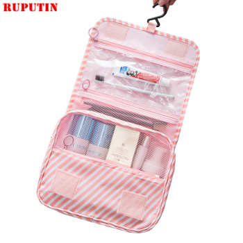RUPUTIN New Women Travel Organizer Cosmetic Bags Hook Wash Bag Waterproof Large Capacity Storage Bag Men Portable Toiletries Bag
