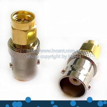 VOIONAIR 10 pcs/lot SMA male plug to BNC female jack Straight RF Connetor Adapter bnc female plug to sma female jack antenna adapter copper connector converter