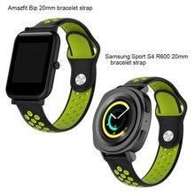 Relógio de Silicone Correa para Original Xiao mi Hua mi Pulseira Cinta para Xiao mi Amazônia Bip Bip Amazônia Engrenagem Samsung s2 S4 Pulseira