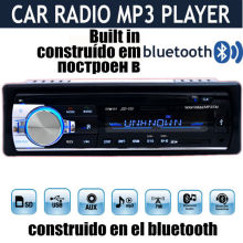 2015 nueva 12 V Car Stereo FM Radio MP3 Reproductor de Audio integrado en Teléfono Bluetooth USB/SD MMC Puerto bluetooth radio Del Coche En El Tablero de 1 DIN