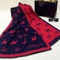 2016 lujo cachemira bufanda borla las mujeres poncho lana invierno caliente grueso estupendo de Doble cara bufandas Pashmina bandanas