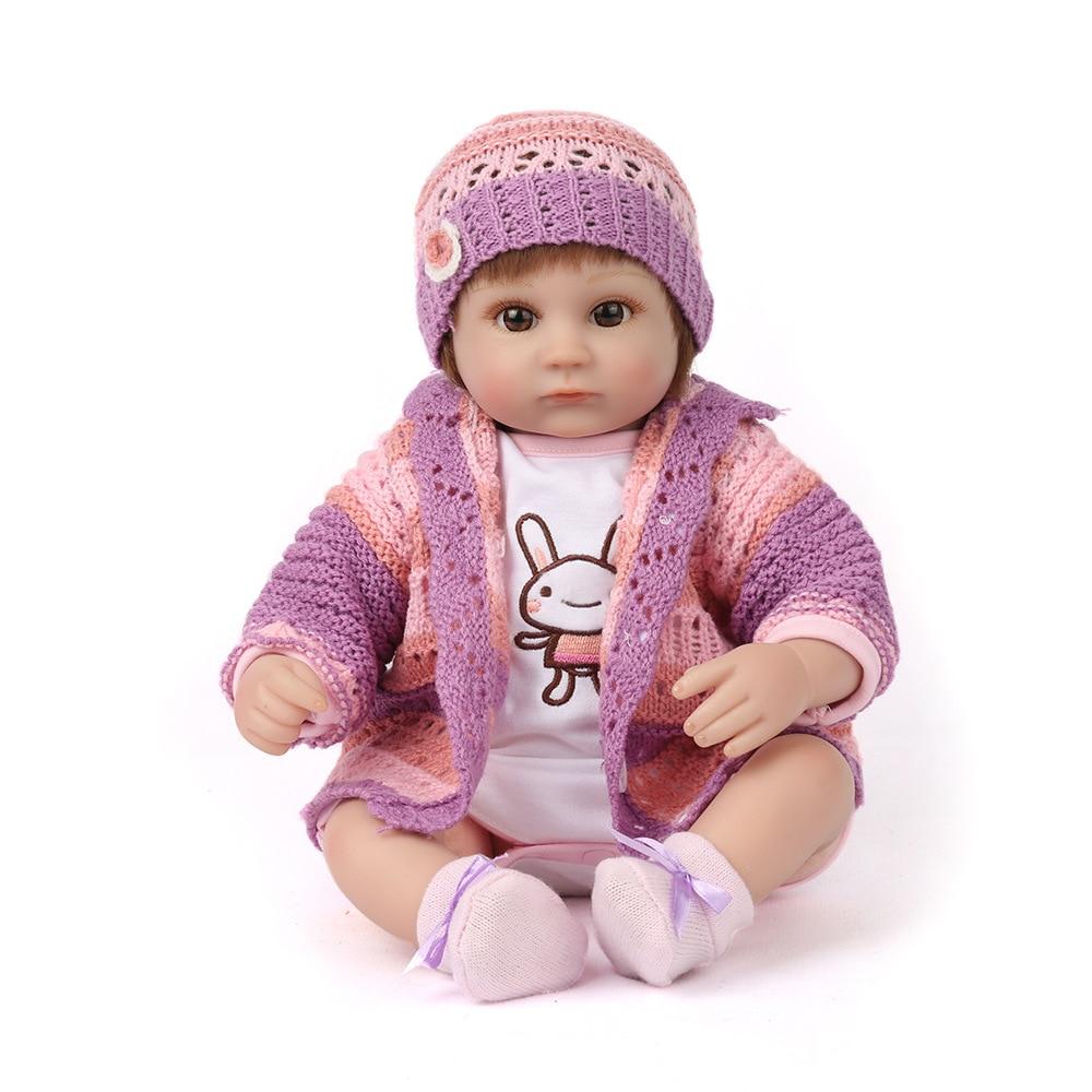 Reborn Baby Doll Realistica Morbido silicone Neonati Rinato Ragazza 45 cm Adorabile Bebe Bambini Brinquedos boneca GiocattoloReborn Baby Doll Realistica Morbido silicone Neonati Rinato Ragazza 45 cm Adorabile Bebe Bambini Brinquedos boneca Giocattolo