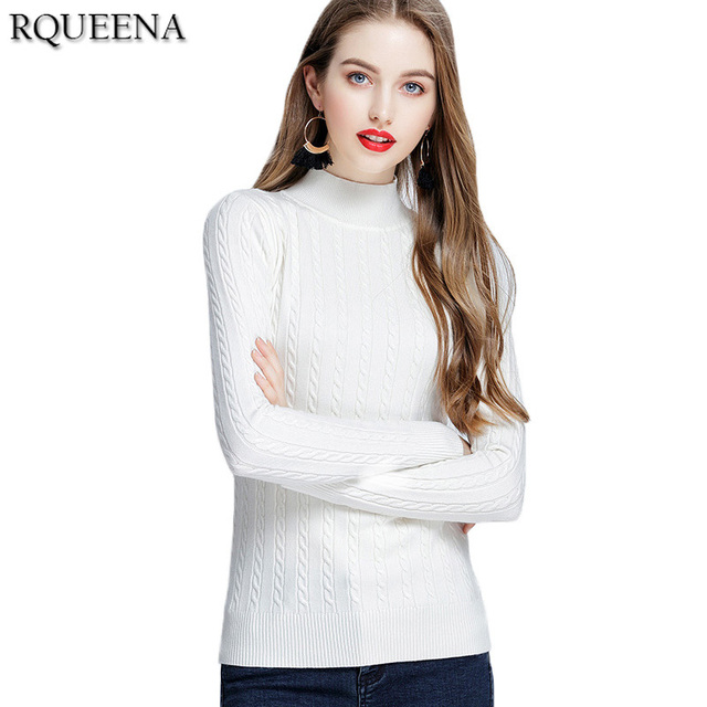 Aliexpress.com : Buy Rqueena Ladies Winter White Cotton Pullover ...