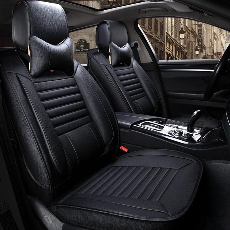 Universal leather car seat cover car seat covers for Lada Larqus 2108 2110 priora kalina granta vesta xray Cadillac Escalade