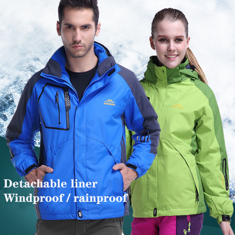 Outdoor Hiking Jackets Men Autumn Winter Large Size Thermal Mountain Waterproof Trekking Fishing Hunting Skiing Jackets(China)