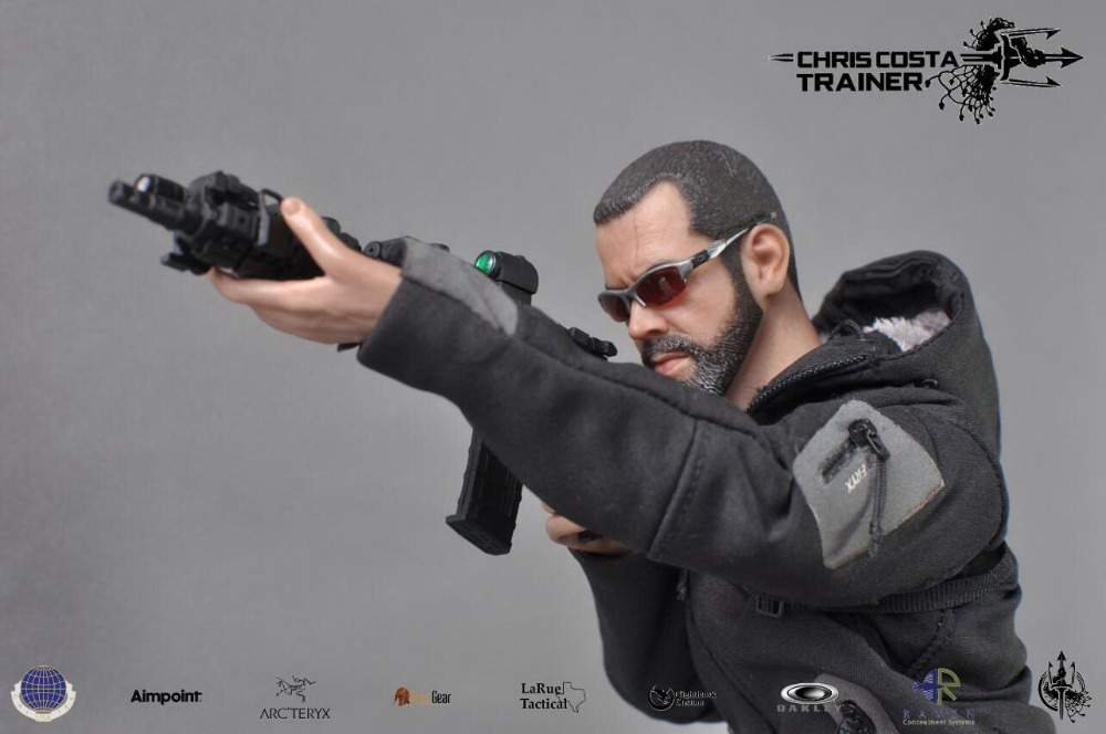 1/6 scale figure doll Chris Costa Trainer Firearms Master 12