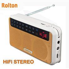 Rolton E500 ستيريو سمّاعات بلوتوث FM راديو محمول مكبر صوت راديو Mp3 لعب صوت تسجيل يد حرّ للهاتف و مصباح يدوي