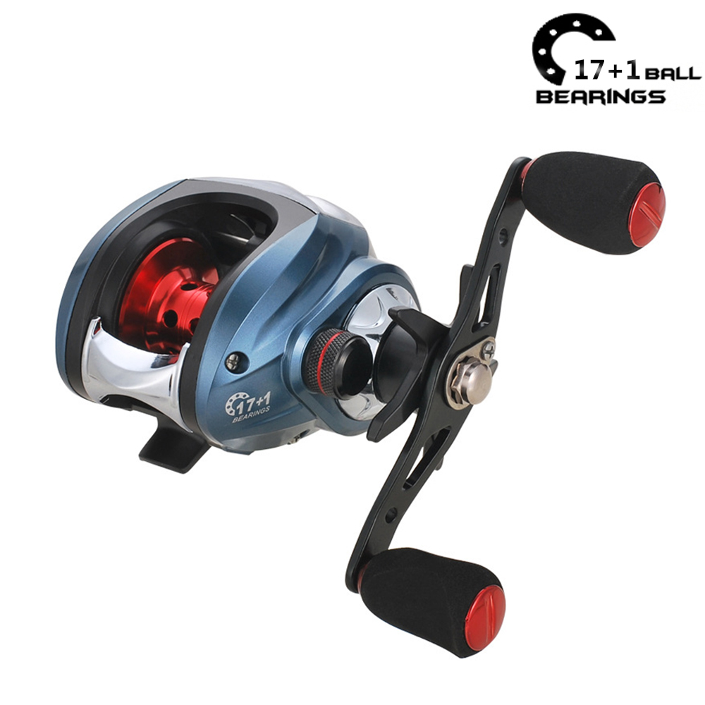 18+1BB Baitcasting reel Fishing Reels Carretilha de pesca Low Profile Reel 7.2:1 Fishing Reel Bait Casting shimano olta
