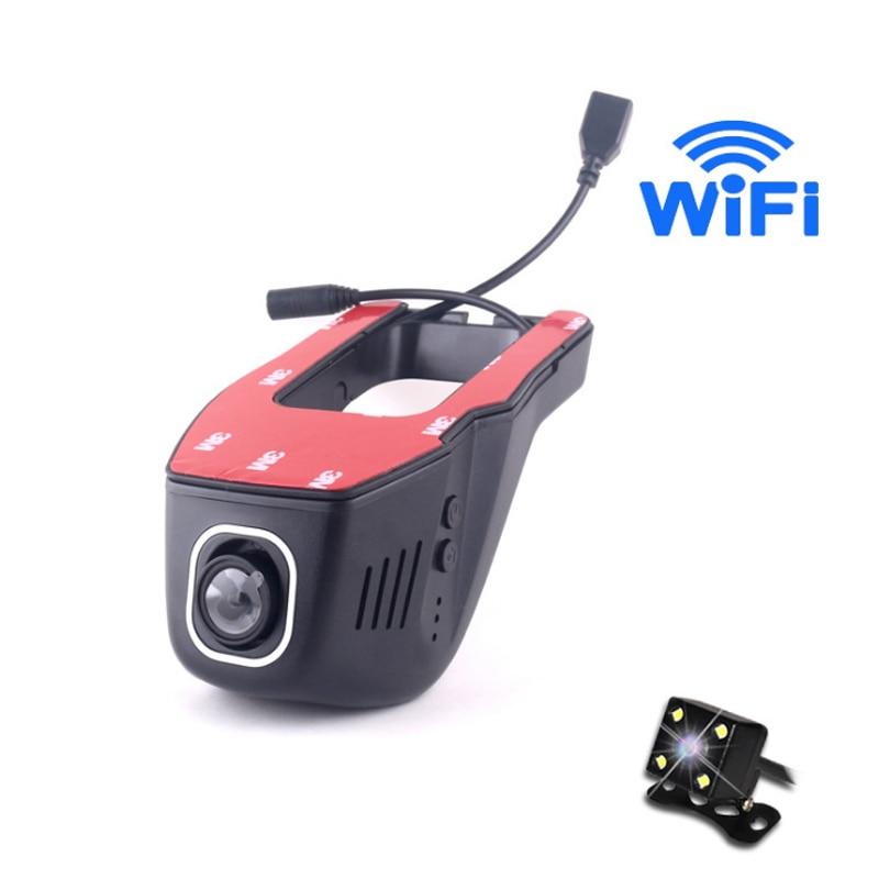 Null Wifi DVR Full HD No Screen Hidden Mini Camera G-sensor Strong Night Vision Hidden Video Recorder 1080P Dual Lens Car DVR стоимость