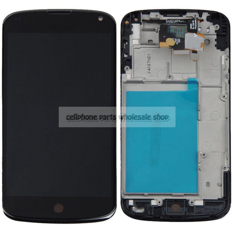 Pour Lg Nexus 4 E960 Écran lcd Avec Écran Tactile En Verre DIgitizer + Cadre Assemblée
