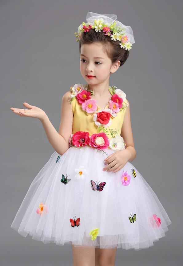 Платье для балета с блестками для девочек; нарядное детское платье для бальных танцев и сценических танцев; детское платье-пачка для выступлений в джазовом стиле - Цвет: Цвет: желтый