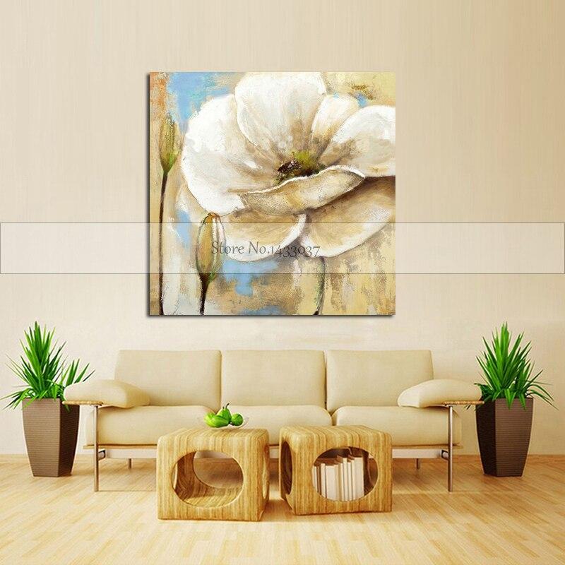 100% Piktura me Mure Abstrakte Piktura Për Dhomën e Jetesës Lule - Dekor në shtëpi - Foto 4