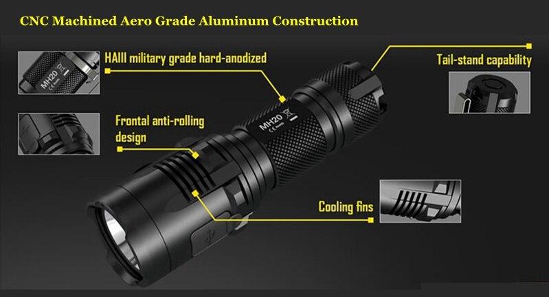 Lanterna cree led mh20gt de 7 modos