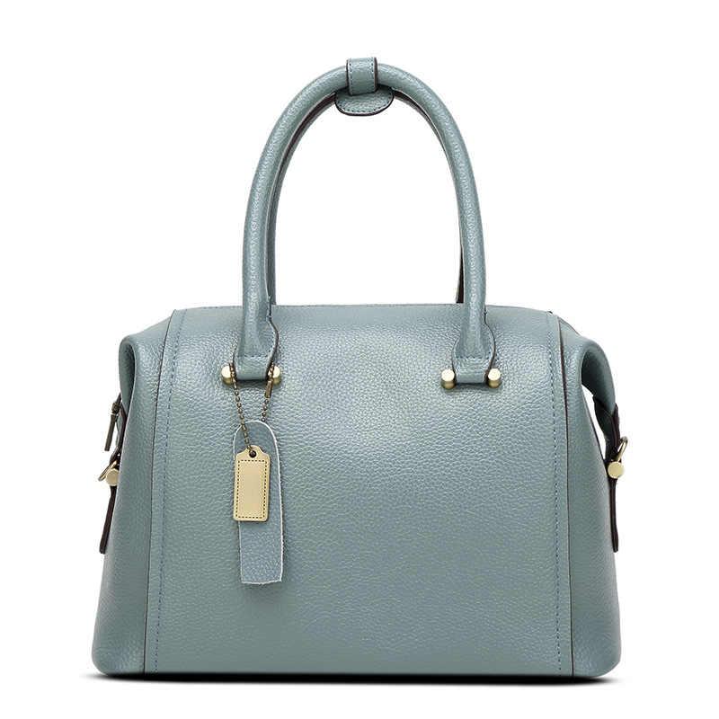 Женская сумка через плечо, из натуральной кожи, с цепочкой, X38