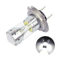 1Pcs Bright White 6000K H7 LED Fog Daytime Light Lamp bulb Driving Light LED Fog Lights For Car Light Bulbs For Cars