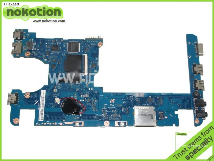 цена на NOKOTION Laptop Motherboard for samsung NC210 NC110 BA92-07684A Intel N455 CPU on board DDR3 Mainboard free shipping