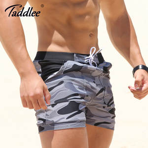 Taddlee Camouflage Basic Swimming Beach Long Board Shorts