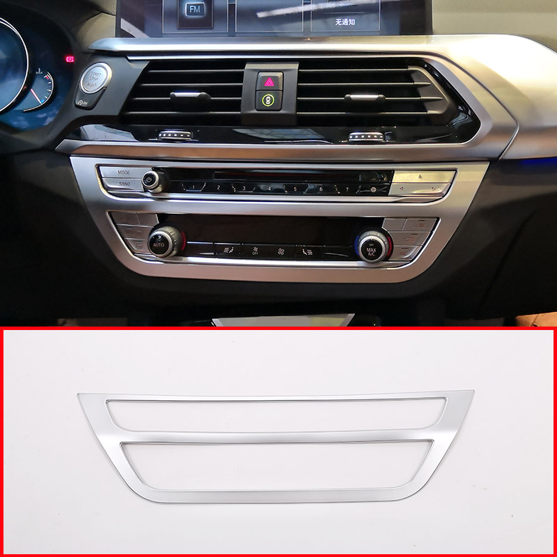 for 5 Series G30 2018 BMWX4 G02 2018 2019 Interior Auto Vehicle Accessory Steering Wheel Button Frame Trim Cover ABS Plastic Matte Silver 2 pcs//set