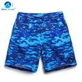 Крышка волна пляж брюки мужские quick dry Дышащий камуфляж печатные синий свободный размер случайные брюки шорты плавать стволы