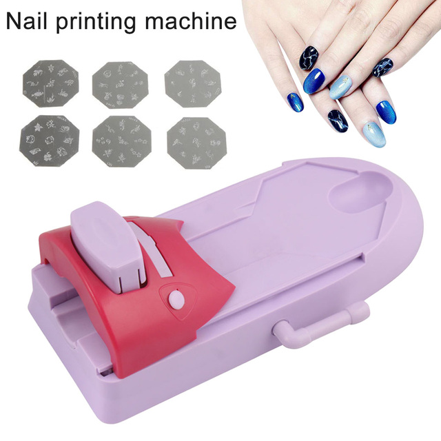 Women Nail Painting Machine Practical Nail Art Printer Set Diy