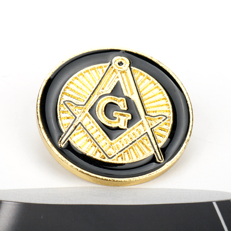 2019 MQCHUN New Free Masons Badge Metal Craft Masonic Lapel Pin Pins
