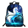 Special Offer Popular Oxford 16-Inch Printing Cool Horse Children Backpacks Mythical Animals Kids School Bags for Teenager Boys