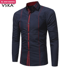 New Autumn&Winter Classic Design Men Shirts Trim Long sleeve Hit Color Shirts Turn-down Collar Slim Chemise Homme turn down collar elbow patch design long sleeve blazer for men