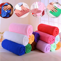 2 Pcs Lot 30 70cm Auto Care Microfiber Cleaning Cloths Kitchen Towels Magic Household Glasses Car