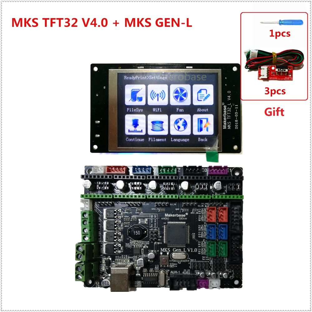 MKS GEN L V1 0 MKS TFT32 LCD touching display cheap 3D electronic card kit plug