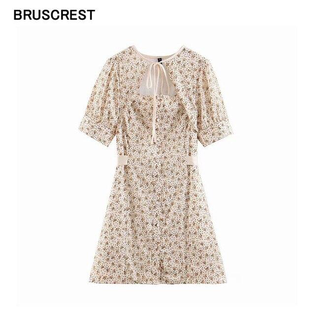da355df5a9e4 Vintage floral playa vestido elegante sexy vestidos mini túnica boho  Vestido de manga corta ahueca hacia fuera casual bohemio verano 2019