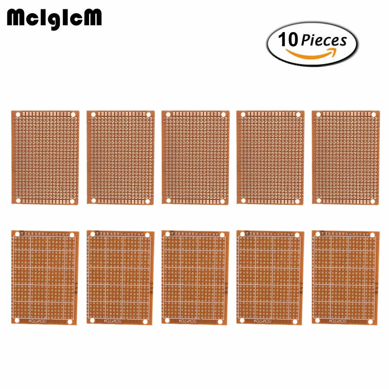 цена на MCIGICM 10Pcs high quatity!! new Prototype Paper Copper PCB Universal Experiment Matrix Circuit Board 5x7cm Brand