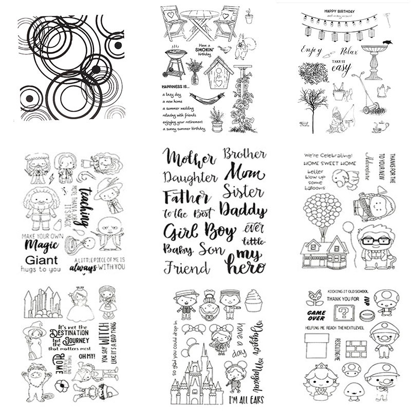 Letter Circle Kid Set Clear Stamps for Scrapbooking DIY Silicone Seals Photo Album Embossing Folder Paper Maker Template Crafts