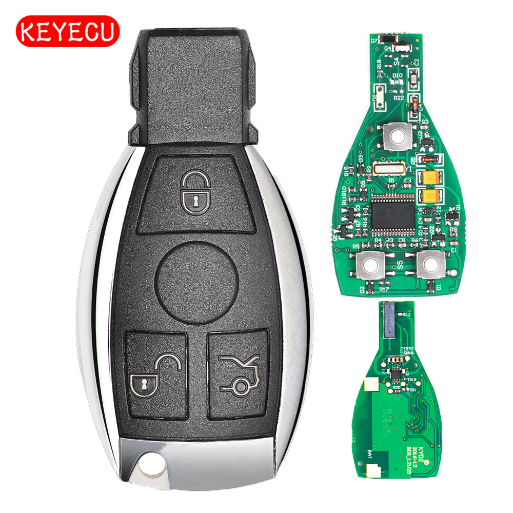 Keyecu Smart Key 3 Buttons 315MHz 433MHz for Mercedes Benz Auto Remote Key Support NEC And BGA 2000+ Year new updating smart key for benz 3 button 433mhz 315mhz easy to create a new key for mecerdes good quality