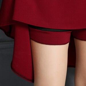 Image 3 - Tigena 2019 여름 a 라인 미디 스커트 여성용 무릎 길이 하이 웨이스트 스쿨 플리츠 스커트 여성용 여성 스커트 썬 블랙