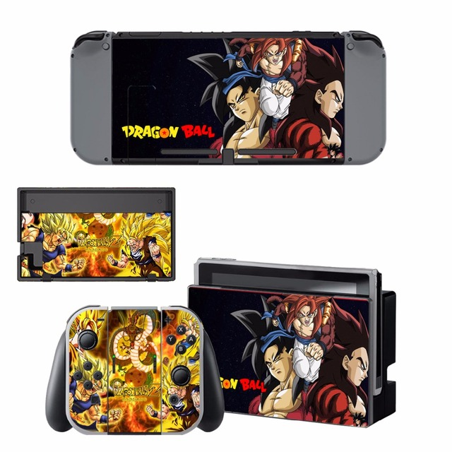 ARRKEO Dragon Ball Xenoverse 2 Protective Cover Vinyl Decal Skin Sticker for Nintend Switch NS Console & Wireless Controller  4