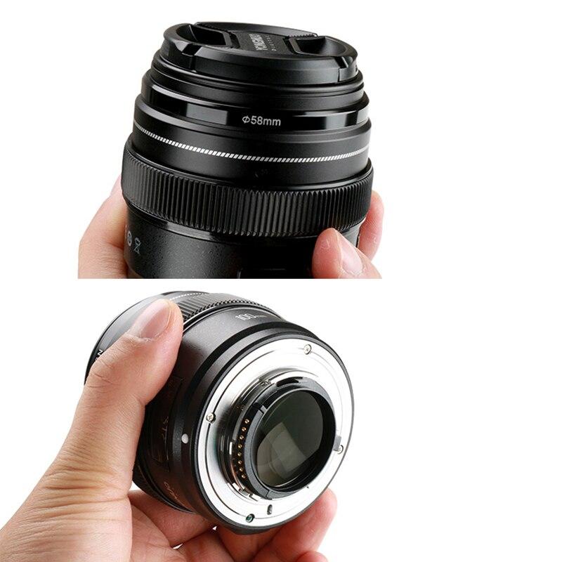 Yongnuo 100mm F2 objectif de caméra pour Canon EOS caméras YN100mm F2N pour Nikon D7200 D7100 moyen téléobjectif Prime AF objectifs MF - 3