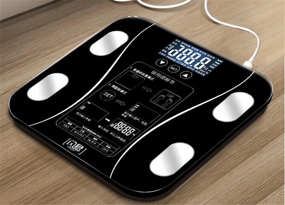 Corps graisse numérique salle de bains poids balances électroniques balance domestique intelligente perdre des échelles de poids pas besoin d'utiliser APP - 4