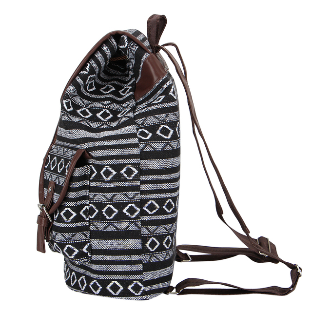 Women's Striped Ethnic Style Backpack 4