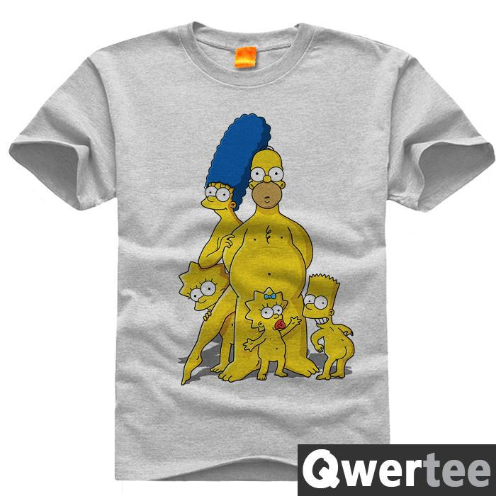 81e87c59 The Simpsons Homer Marge Bart Lisa Simpson Print Fashion Free Shipping  Original Design Cotton Casual Tshirt T shirt TEE-in T-Shirts from Men's  Clothing on ...