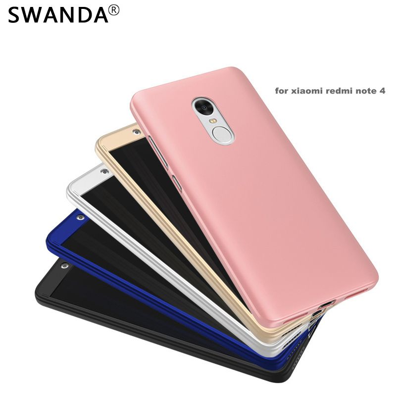 Luxury Hard Frosted PC case For Xiaomi Redmi Note 4 360 Degree Front Full Body Protective Skin Cover For Redmi Note 4 Pro