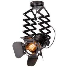 Vintage LED Track Light Loft Industrial Spotlight Rail Light Black Track Lamp Clothes Store Shop Office
