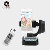 Alumotech YT 500 Panorama Motorized Remote Control Pan Tilt Tripod Mount Adapter Cradle Head For Smart Phone Gopro DSLR Camera