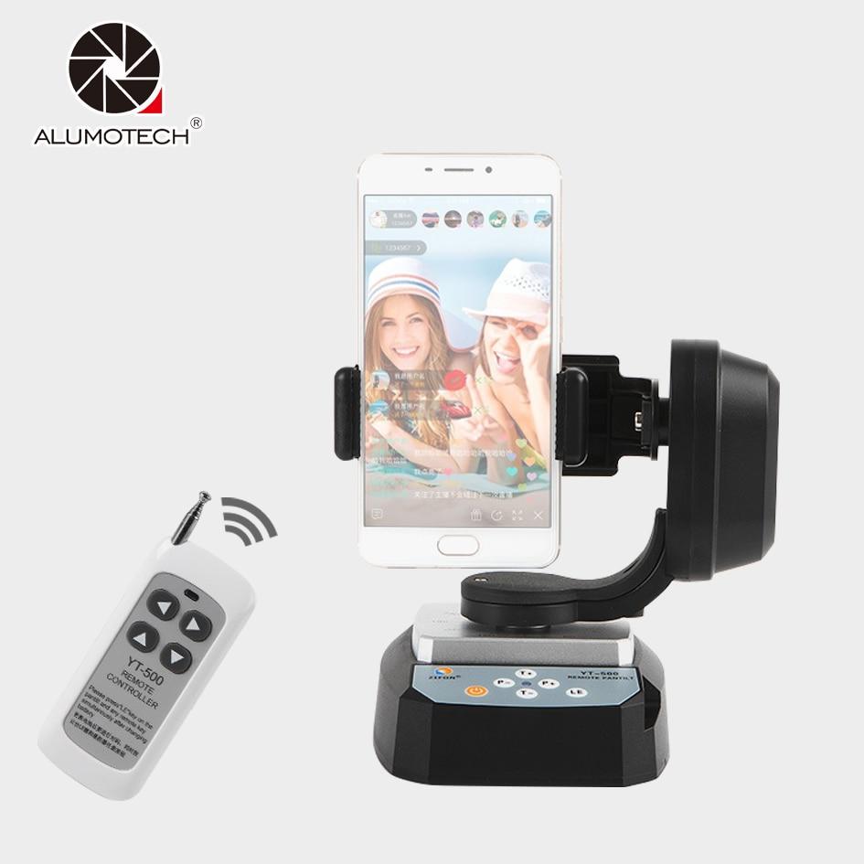 Alumotech yt-500 панорама моторизованный Дистанционное управление телеметрией Штатив Адаптер Колыбели головка для смартфон GoPro DSLR Камера