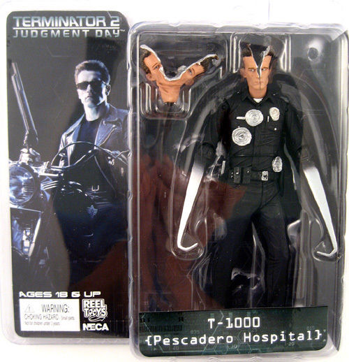 Free Shipping NECA The Terminator 2 Action Figure T-1000 Pescadero Hospital Figure Toy 718cm Model #ZJZ009 free shipping neca the terminator 2 action figure t 800 cyberdyne showdown pvc figure toy 718cm zjz001