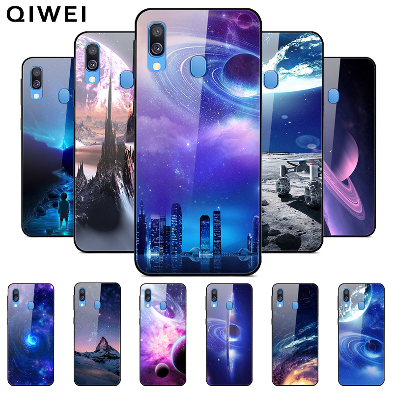 Tempered glass Case for Samsung Galaxy A70 Case Hard Back Cover For Samsung A40 A51 A71 Silicone Bumper Coque A 70 2019 A 51 71 image