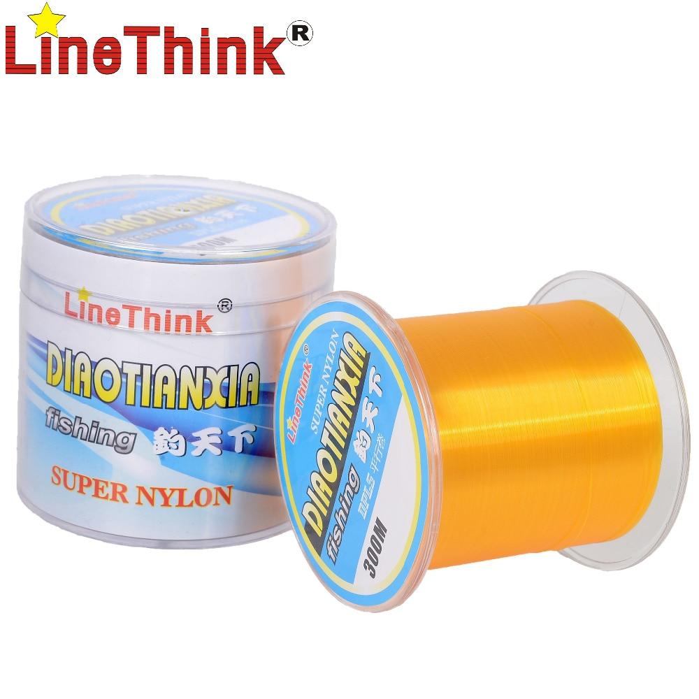 300M LineThink DIAOTIANXIA Top Quality Nylon Monofilament Fishing Line Free Shipping 9 0 0 510mm nylon fishing line thread red 300m