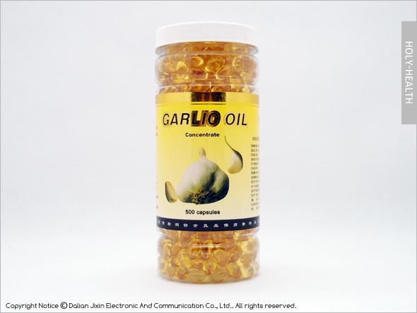 Hot sale health food green nature garlic oil capsule for reduce cholesterin350ml*500softgel high quaility low price