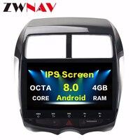 Android 8,0 Octa 8 Core 4 + 32 ГБ GPS; Мультимедийный проигрыватель головное устройство для Mitsubishi ASX 2010 2011 2012 автомобильный радиоприемник стерео BT Wifi без dvd